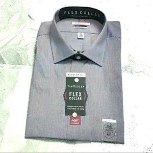 Men's Regular Fit Flex Collar Dress Shirt - NWT